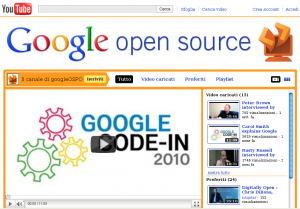 Il Canale Youtube di Google dedicato all'Open Source